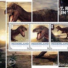 Sellos: NETHERLANDS 2016 - T. REX IN TOWN SOUVENIR SHEET MNH. Lote 100404547