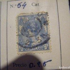 Sellos: JML SELLO NEDERLAND HOLANDA 12 1/2 CENT CENTIMOS. RARO. Lote 105891047