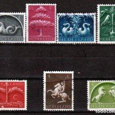 Sellos: HOLANDA.1943. SERIE. SIMBOLOS GERMANICOS. *,MH (18-06). Lote 110084803