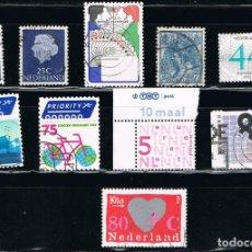 Sellos: HOLANDA - LOTE DE 10 SELLOS - VARIOS (USADO) LOTE 40. Lote 115384635