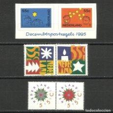 Sellos: HOLANDA, 1992, 94, 95, MI. 1458/9, 1528/9, 1561/2, MNH**. Lote 119591675