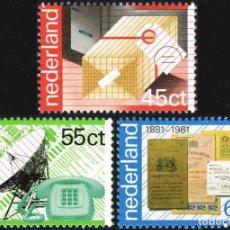 Sellos: HOLANDA 1981 ** NUEVO ** CENTENARIO DE CORREOS. Lote 128090579
