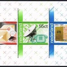 Sellos: HOLANDA 1981 ** NUEVO ** HB CENTENARIO DE CORREOS. Lote 128090755