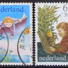Sellos: HOLANDA 1980 • USADO • PRO INFANCIA. Lote 129107451
