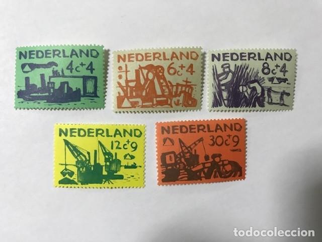 HOLANDA 1959 YVERT 703/7** MNH PROTECCIÓN CONTRA INUNDACIONES (Sellos - Extranjero - Europa - Holanda)
