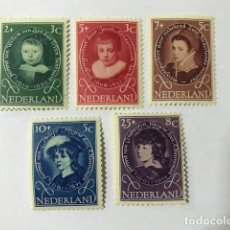 Sellos: HOLANDA 1955 YVERT 644/8** MNH. PINTURAS. Lote 129476471
