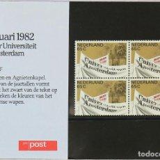 Sellos: HOLANDA 1982 ** NUEVO ** UNIVERSIDAD AMSTERDAM EN ESTUCHE DE PRESENTACIÓN 1. Lote 129981159