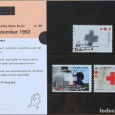 Sellos - Holanda 1992 • YT 1410-1412 ** Nuevo ** • Pro cruz roja en estuche de presentación 99 - 130418554