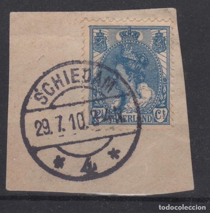 1899-1923 PAÍSES BAJOS - NETHERLANDS - YT 54 USADO MATASELLOS SCHIEDAM (Sellos - Extranjero - Europa - Holanda)