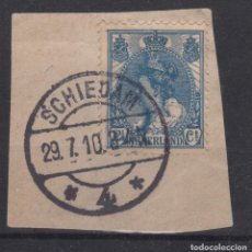 Sellos: 1899-1923 PAÍSES BAJOS - NETHERLANDS - YT 54 USADO MATASELLOS SCHIEDAM. Lote 132923562