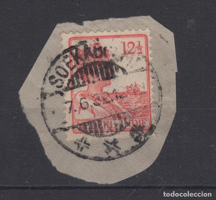 1922 REINA WILHELMINA NETHERLANDS - INDIE 12-1/2 CÉNTIMOS USADO NARANJA (Sellos - Extranjero - Europa - Holanda)