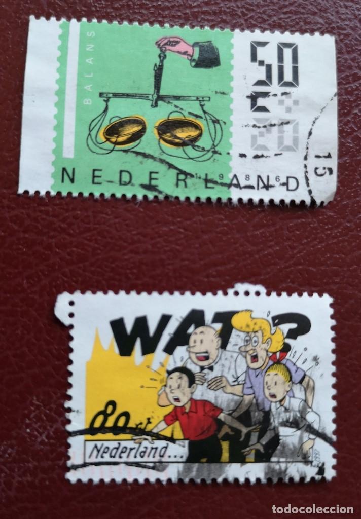 Sellos: Lote Holanda 4 sellos usado - Foto 2 - 134342614
