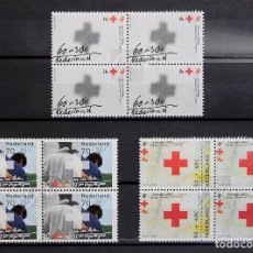 Sellos - Holanda 1992 • YT 1410-1412 ** Nuevo ** • Serie pro cruz roja en bloques de 4 - 139660114