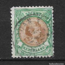 Sellos: HOLANDA 1896 SC# 51 50C EMER & YEL BRN USED - 1/26. Lote 143343066