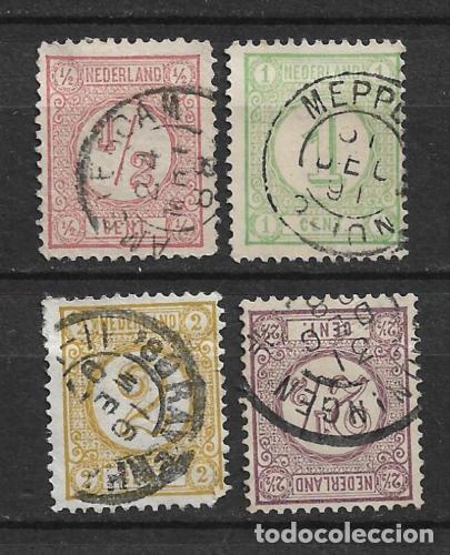 HOLANDA 1876-94 SC# 34-37 USED - 1/26 (Sellos - Extranjero - Europa - Holanda)