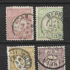 Sellos: HOLANDA 1876-94 SC# 34-37 USED - 1/26. Lote 143343146