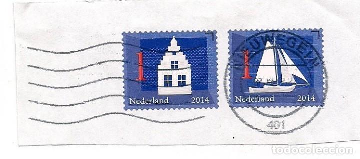 HOLANDA 2014 - 2 SELLOS USADOS (Sellos - Extranjero - Europa - Holanda)