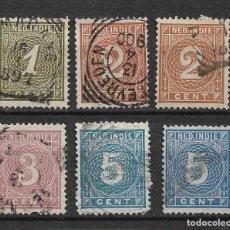 Sellos: PAISES BAJOS INDIAS 1883-90 - USADOS - 8/59. Lote 146623018