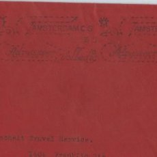 Sellos: 1935. HOLANDA/NETHERLANDS. FRAGMENTO SOBRE CIRCULADO. AMSTERDAM. RODILLO/SLOGAN.. Lote 151519294