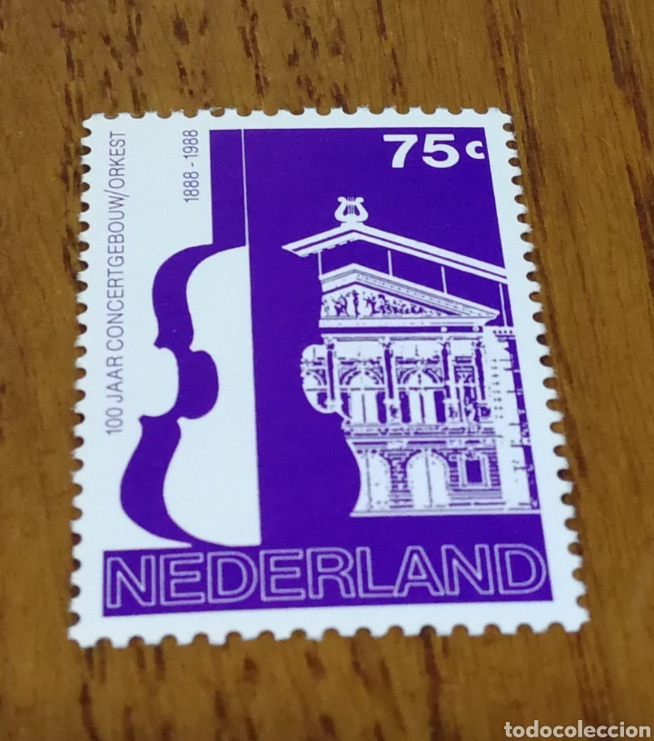 HOLANDA : 100 AÑOS DE LA ORQUESTA HOLANDESA MNH, AÑO 1988 (Sellos - Extranjero - Europa - Holanda)
