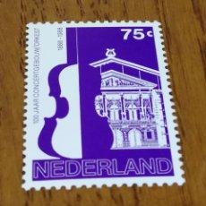Sellos: HOLANDA : 100 AÑOS DE LA ORQUESTA HOLANDESA MNH, AÑO 1988. Lote 155149008
