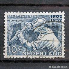 Sellos: HOLANDA 1952 ~ MINERO ~ SELLO USADO BUENO. Lote 157427206