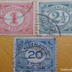 Sellos: SELLO HOLANDA, NEDERLAND 1-2-20 CENT, AÑO 1900.. Lote 157461518