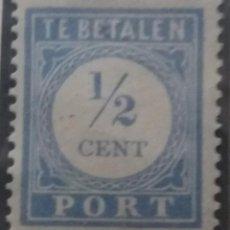 Sellos: SELLO HOLANDA, NEDERLAND 1,2 CENT, TE BETALEN, AÑO 1890.. Lote 157466562