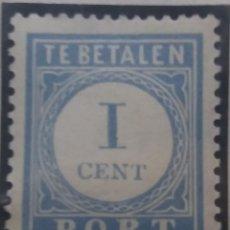 Sellos: SELLO HOLANDA, NEDERLAND 1 CENT, TE BETALEN, AÑO 1896.. Lote 157467050