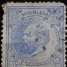 Sellos: SELLOS HOLANDA, NEDERLAND, 5 CENT, REY WILLIAM III, AÑO 1872.. Lote 158154566