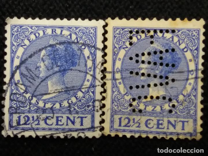 SELLOS HOLANDA, NEDERLAND, 12,1/2 CENT, REINA WILHELMINA, AÑOS, 1920 (Sellos - Extranjero - Europa - Holanda)