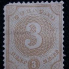 Sellos: POSTZEGEL, NEDERLAND, ANTILLES, 3 CENT, 1890.. Lote 164851338