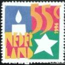 Sellos: 1994. NAVIDAD. HOLANDA. 1494. VELA Y ESTRELLA. SERIE CORTA. USADO.. Lote 168263272