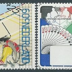 Sellos: 1980. HOLANDA/NETHERLANDS. YVERT 1133/4** MNH. DISCAPACITADOS/DISABLED. NAIPES/CARDS. BRIDGE.. Lote 176164550