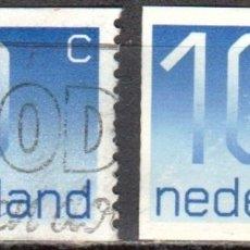 Sellos: HOLANDA - DOS SELLOS - IVERT:#NL-1042 - ***TIPO DE FIGURA ¨¨CROUWEL¨¨*** - AÑO 1976 - USADOS. Lote 176398874