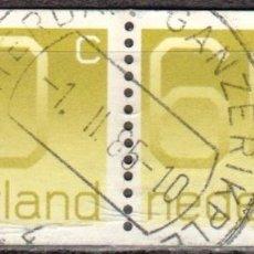 Sellos: HOLANDA - DOS SELLOS - IVERT:#NL-1154 - ***TIPO DE FIGURA ¨¨CROUWEL¨¨*** - AÑO 1981 - USADOS. Lote 176399194