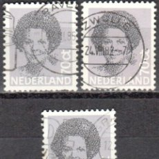 Sellos: HOLANDA - TRES SELLOS - IVERT:#NL-1168 - ***REINA BEATRIZ - (1938)¨¨*** - AÑO 1982 - USADOS. Lote 176399509