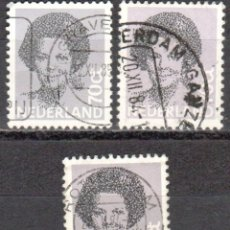 Sellos: HOLANDA - TRES SELLOS - IVERT:#NL-1168 - ***REINA BEATRIZ - (1938)¨¨*** - AÑO 1982 - USADOS. Lote 176399564