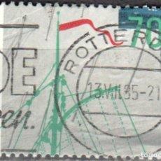 Sellos: HOLANDA - UN SELLO - IVERT:#NL-1248 - ***PARTE DEL APAREJO DE UN FONDO PLANO*** - AÑO 1985 - USADO. Lote 176401899