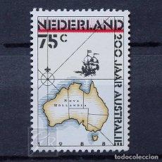 Sellos: HOLANDA 1988 ~ COLONIZACIÓN DE AUSTRALIA ~ SELLO NUEVO MNH LUJO. Lote 176408264