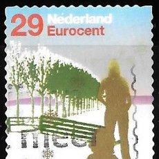 Sellos: HOLANDA 2002. VARIEDAD PUNTO BLANCO ENCIMA DE NEDERLAND. USADO. Lote 178055320