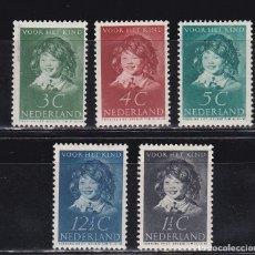Sellos: HOLANDA 1937 BENEFICIENCIA PRO HUERFANOS NUEVOS ** (NMH) - LOTE - 86 - H. Lote 179106072