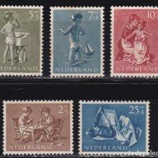 Sellos: HOLANDA 1954 BENEFICIENCIA PRO HUERFANOS NUEVOS ** (NMH) - LOTE - 86 - H2. Lote 179106323
