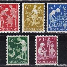 Sellos: HOLANDA 1962 BENEFICIENCIA PRO HUERFANOS NUEVOS ** (NMH) - LOTE - 86 - H5. Lote 179106763