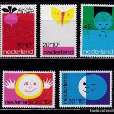 Sellos: HOLANDA 1971 BENEFICIENCIA PRO HUERFANOS NUEVOS ** (NMH) - LOTE - 86 - H7. Lote 179106985