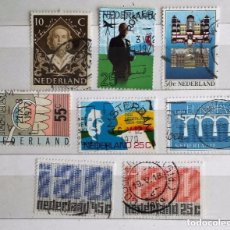 Sellos: HOLANDA, LOTE DE 8 SELLOS USADOS. Lote 179539002
