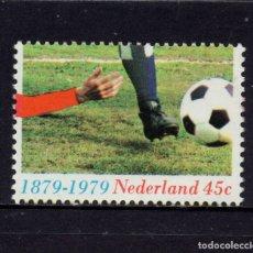 Sellos: HOLANDA 1114* - AÑO 1979 - CENTENARIO DEL FUTBOL EN HOLANDA. Lote 181394900