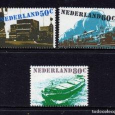 Sellos: HOLANDA 1135/37** - AÑO 1980 - MEDIOS DE TRANSPORTE - AUTOMOVILES - TRENES - BARCOS. Lote 181395961