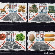Sellos: HOLANDA 1159/62** - AÑO 1981 - EXPORTACIONES AGRICOLAS E INDUSTRIALES. Lote 181396140