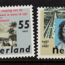 Sellos: HOLANDA 1283/84** - AÑO 1987 - LITERATURA HOLANDESA. Lote 182394762